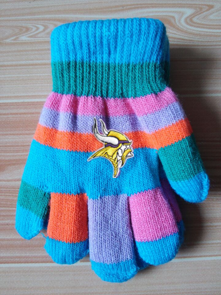 Vikings Kids Knit Gloves2