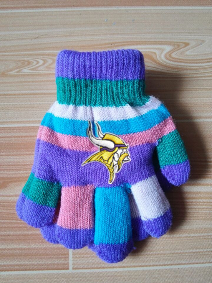 Vikings Kids Knit Gloves6