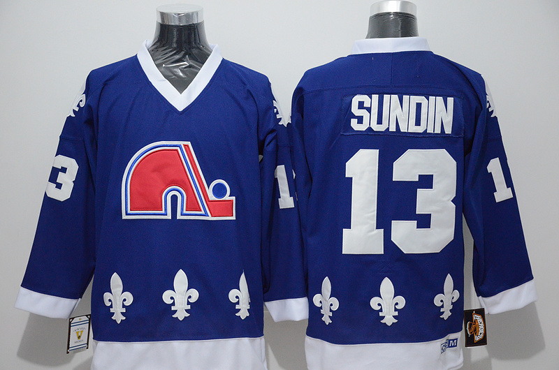 Nordiques 13 Mats Sundin Blue CCM Jersey