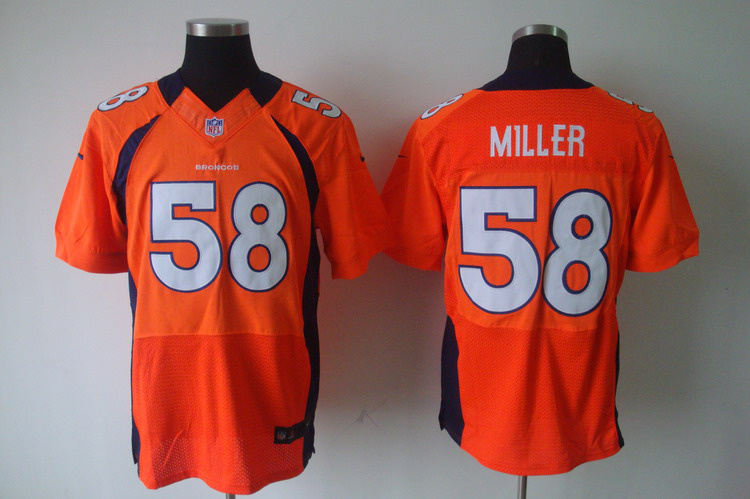 Nike Broncos 58 Von Miller Orange Elite Jersey
