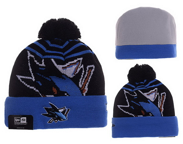 Sharks Black Fashion Knit Hat XDF