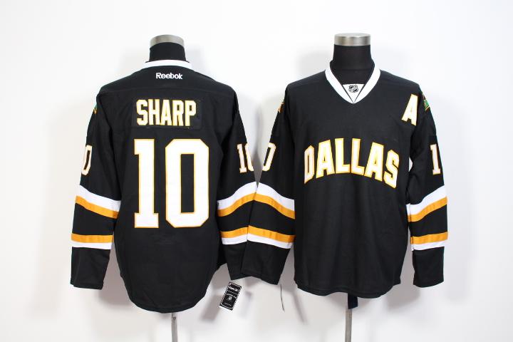 Stars 10 Patrick Sharp Black Reebok Jersey