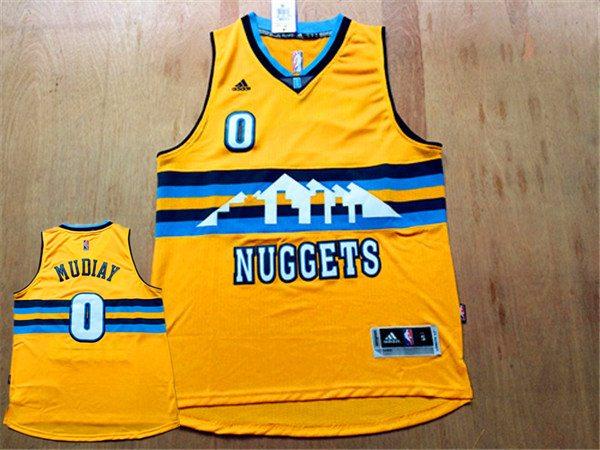 Nuggets 0 Emmanuel Mudiay Yellow Swingman Jersey