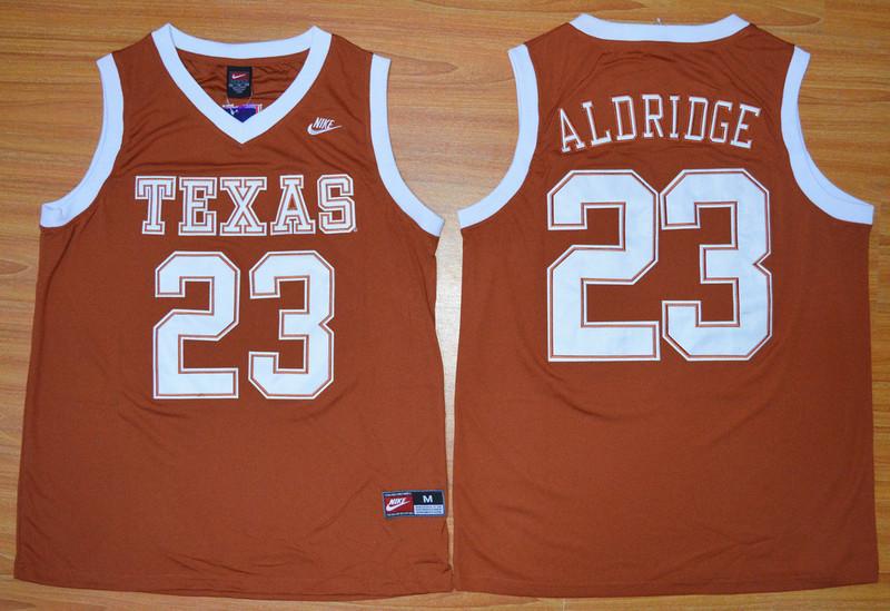 Texas Longhorns 23 LaMarcus Aldridge Orange Basketball College Jersey