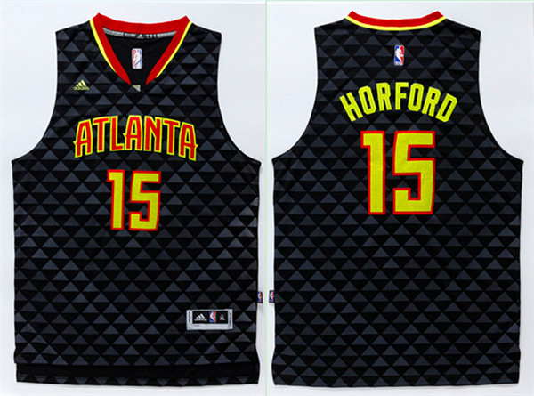 Hawks 15 Al Horford Black Swingman Jersey