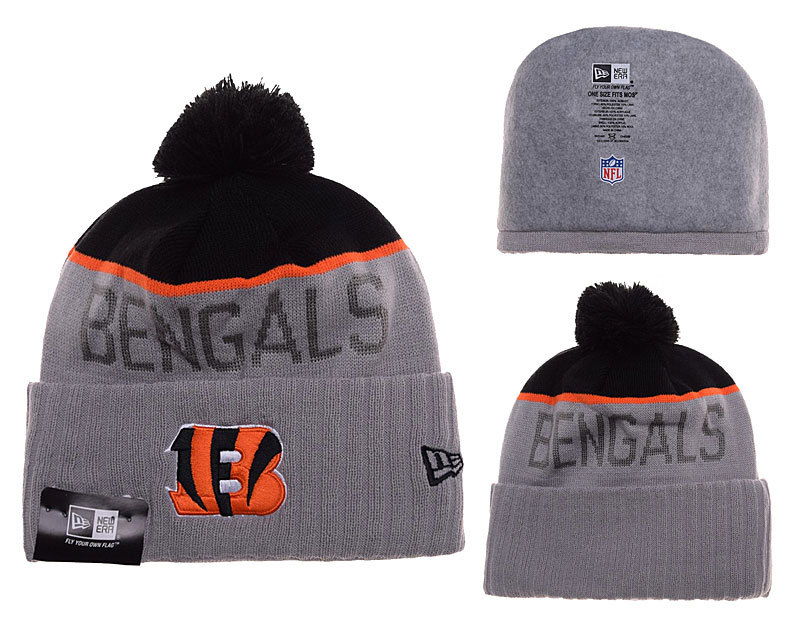 Bengals Grey Fashion Knit Hat SD