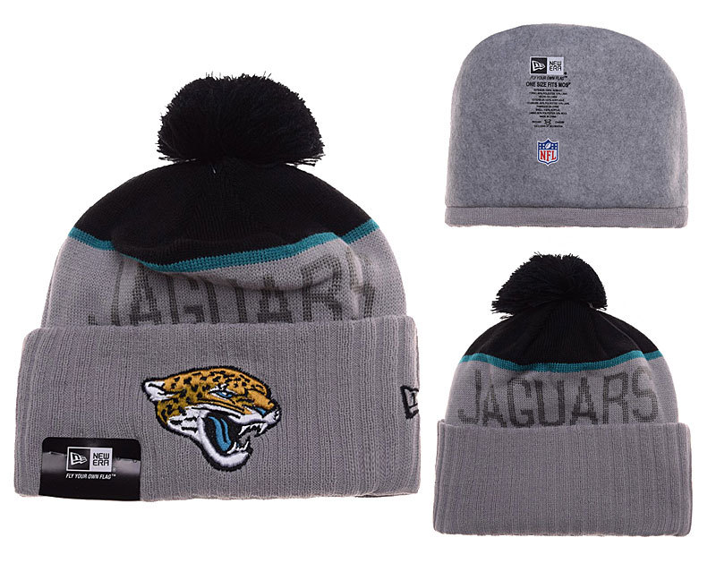 Jaguars Grey Fashion Knit Hat SD