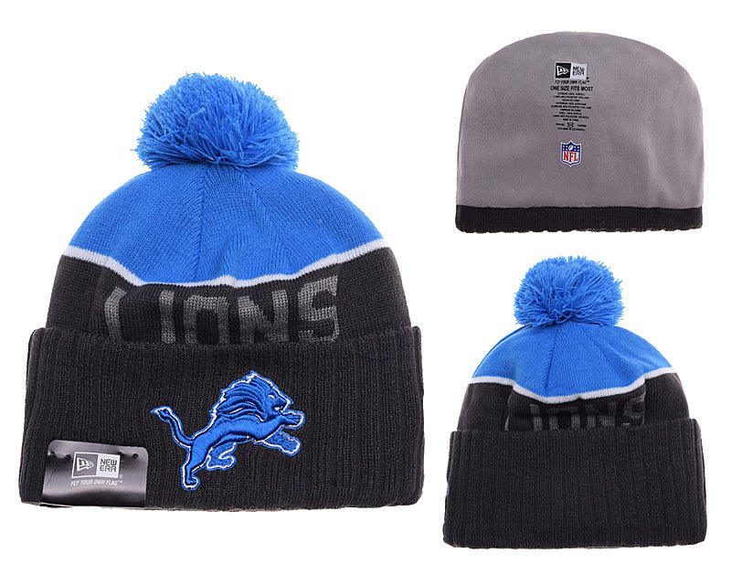 Lions Black Fashion Knit Hat SD