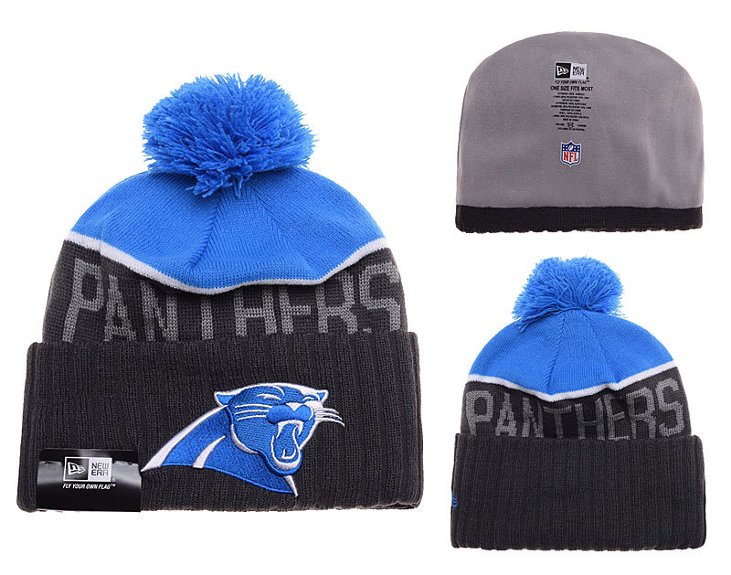 Panthers Black Fashion Knit Hat SD