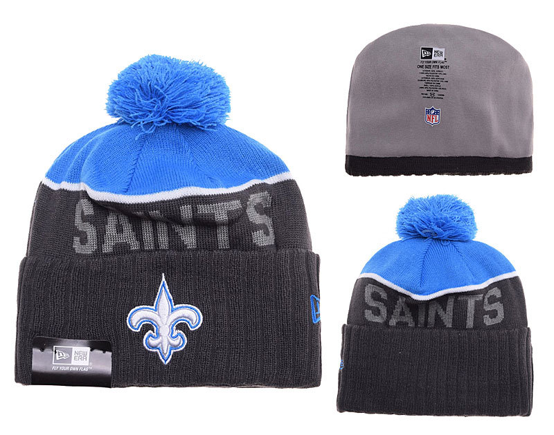 Saints Black Fashion Knit Hat SD