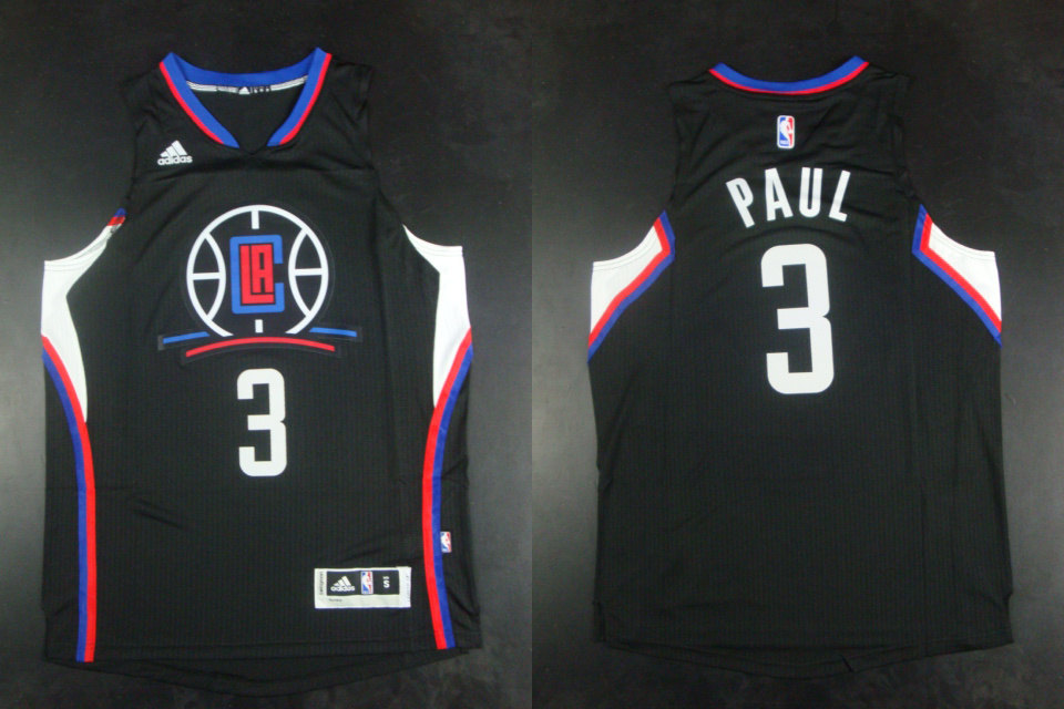 Clippers 3 Blake Chris Paul Black Hot Printed Jersey