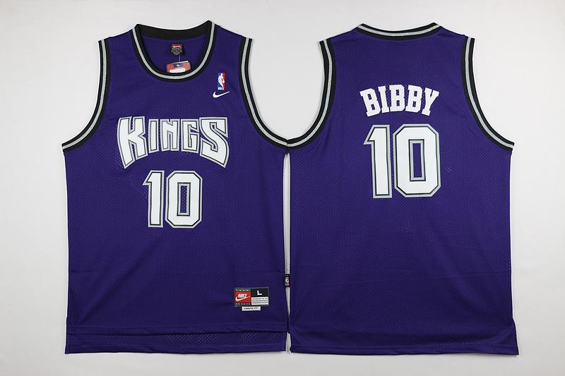 Kings 10 Mike Bibby Purple Nike Jersey