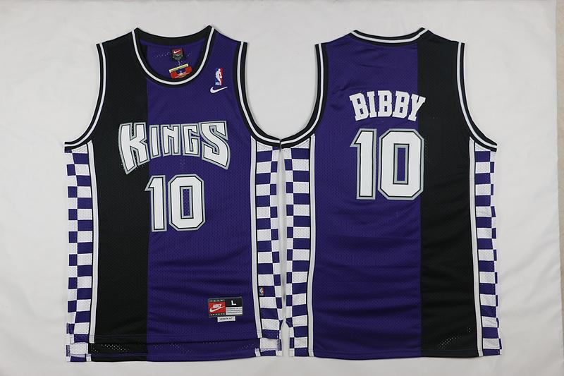 Kings 10 Mike Bibby Purple Nike Throwback Jersey