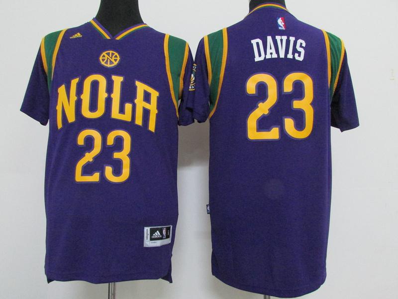 Pelicans 23 Anthony Davis Purple Pride Swingman Jersey