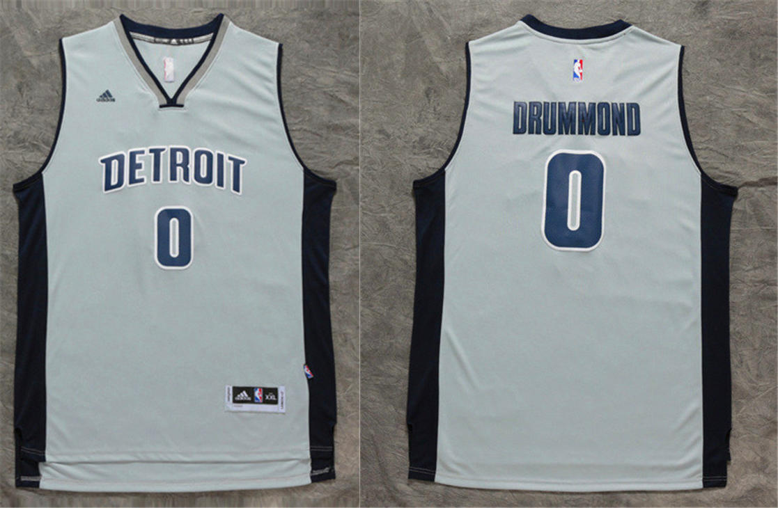 Pistons 0 Andre Drummond Grey Swingman Jersey
