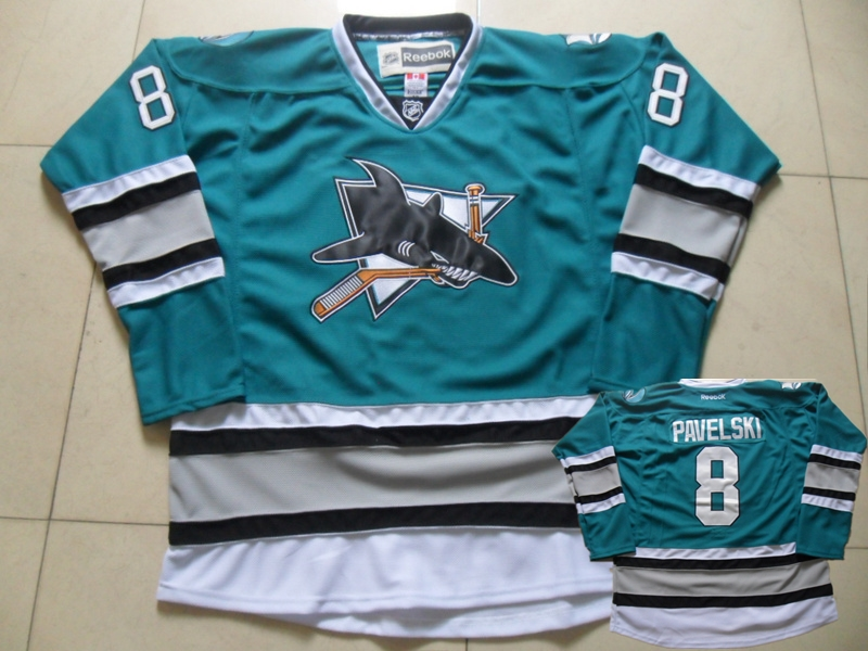 Sharks 8 Joe Pavelski Teal Reebok Jersey