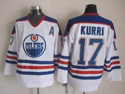 Oilers 17 Jari Kurri White CCM Jersey