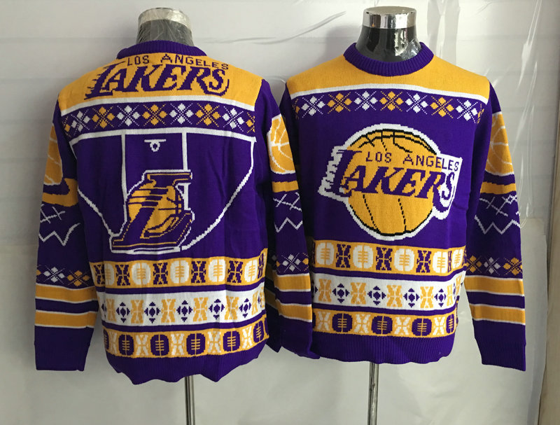 Los Angeles Lakers Crew Neck Men's Ugly Sweater2