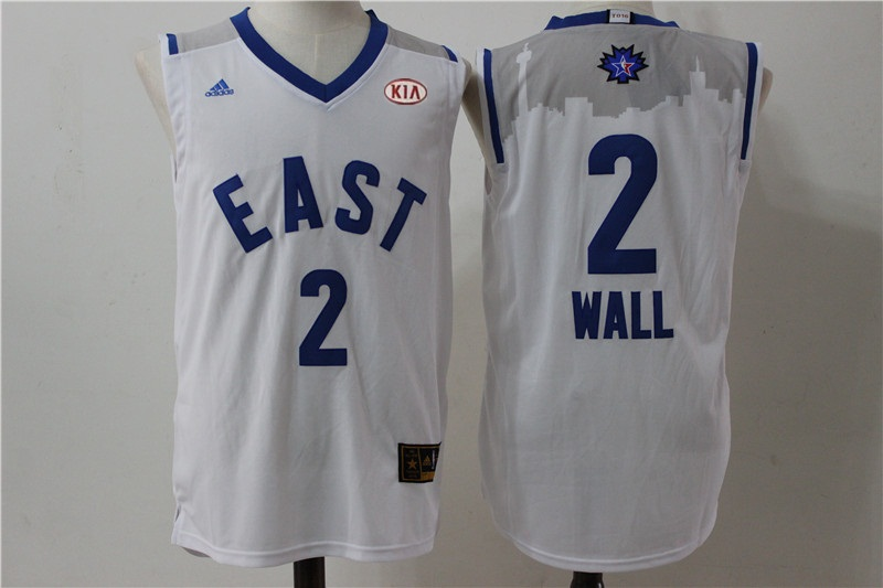 Wizards 2 John Wall White 2016 All Star East Jersey