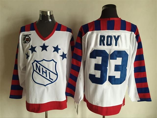 Canadiens 33 Patrick Roy White CCM Jersey