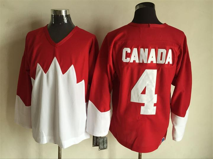 Team Canada 4 Red 1972 Commemorative CCM Jersey