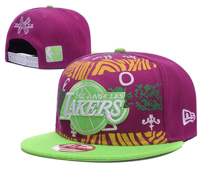 Lakers Team Logo Rose-carmine Fashion Adjustable Hat GS