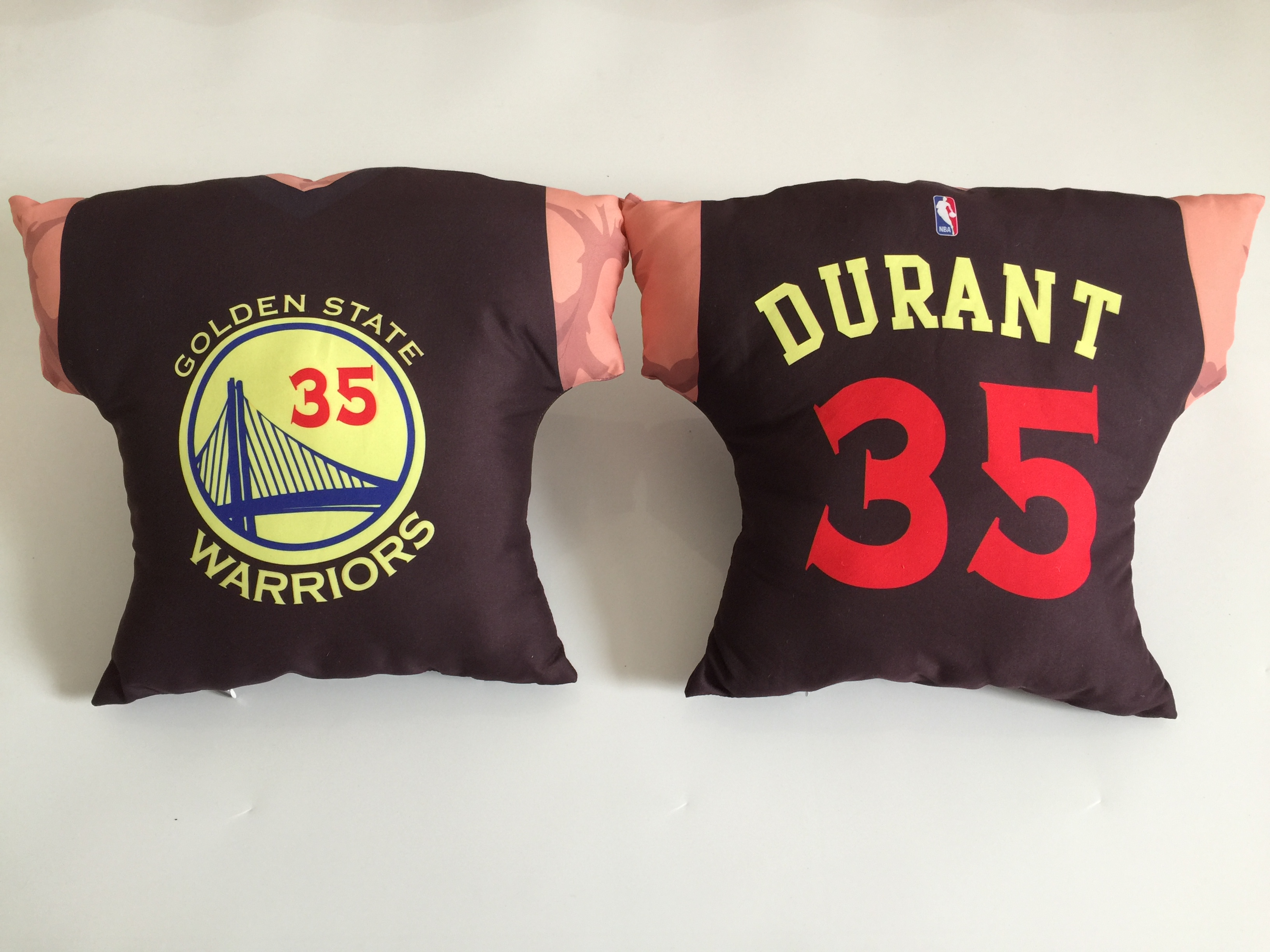 Golden State Warriors 35 Kevin Durant Black NBA Pillow
