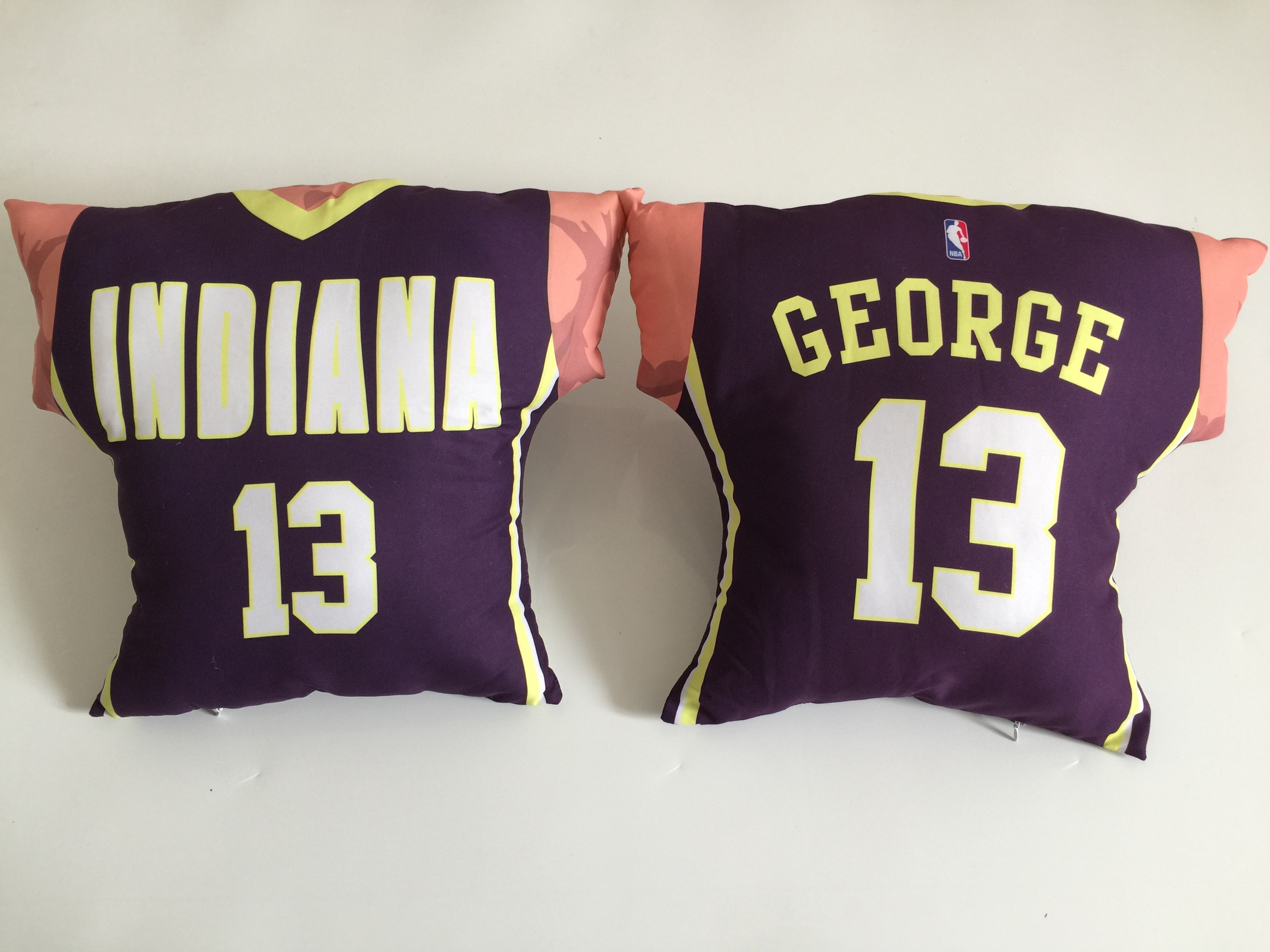 Indiana Pacers 13 Paul George Navy NBA Pillow
