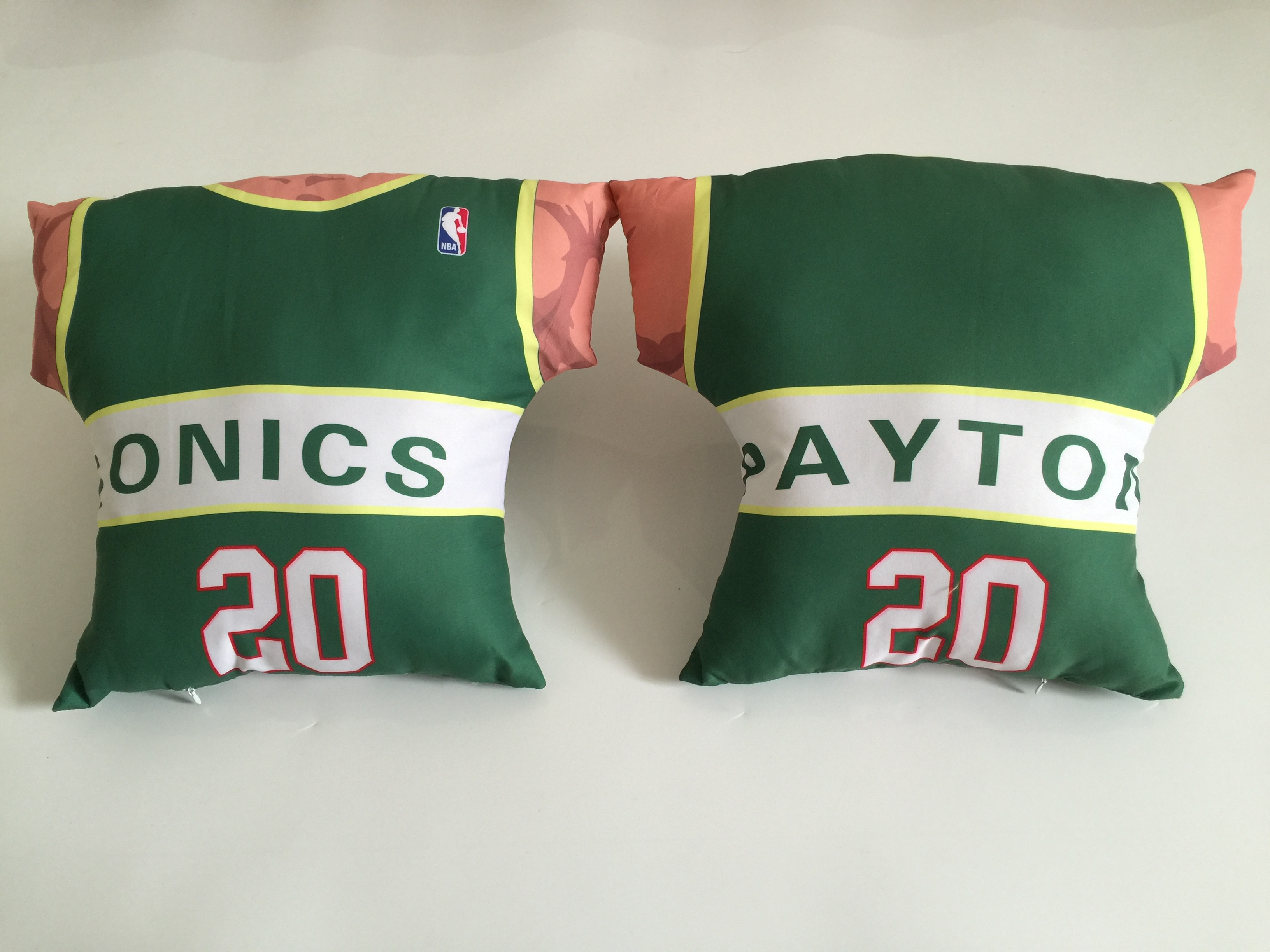 Seattle SuperSonics 20 Gary Payton Green NBA Pillow