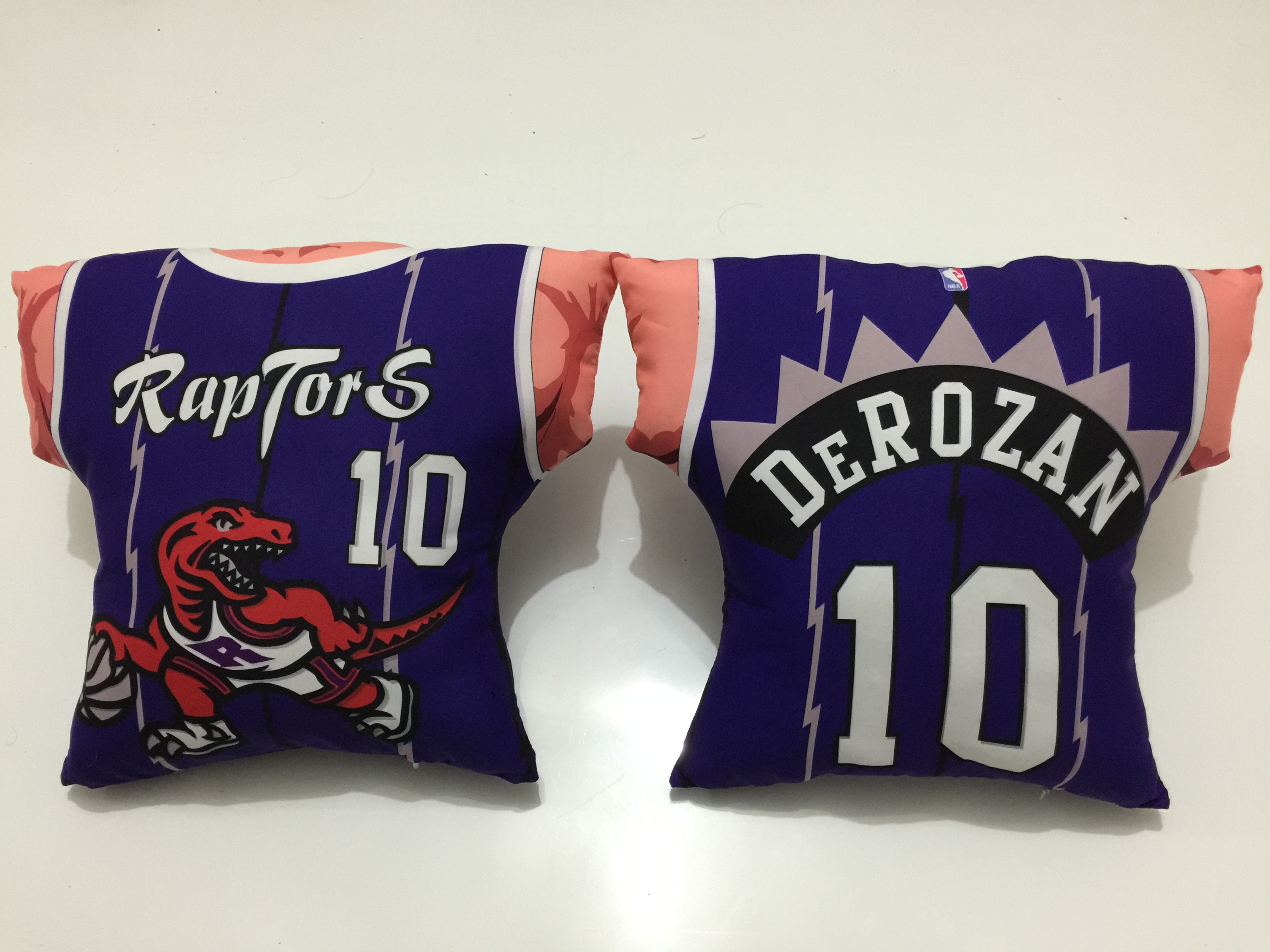 Toronto Raptors 10 DeMar DeRozan Purple NBA Pillow
