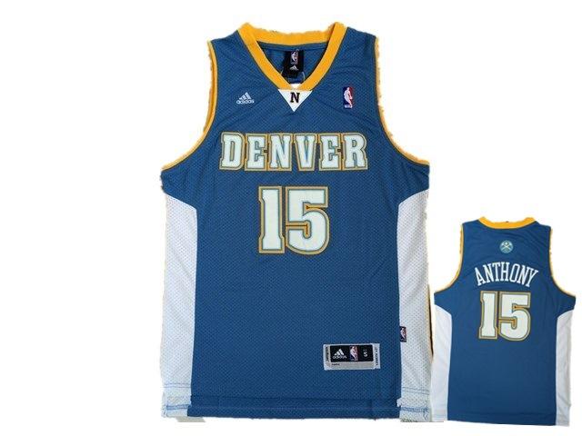 Nuggets 15 Carmelo Anthony Light Blue Swingman Jersey