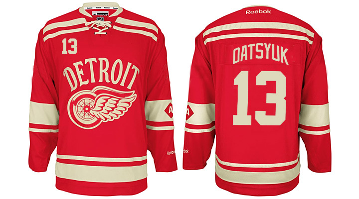 Red Wings 13 Pavel Datsyuk Red 2014 Winter Classic Reebok Jersey