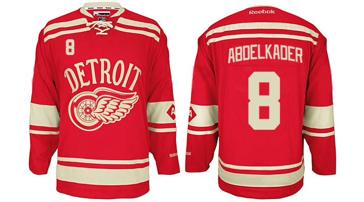 Red Wings 8 Justin Abdelkader Red 2014 Winter Classic Reebok Jersey