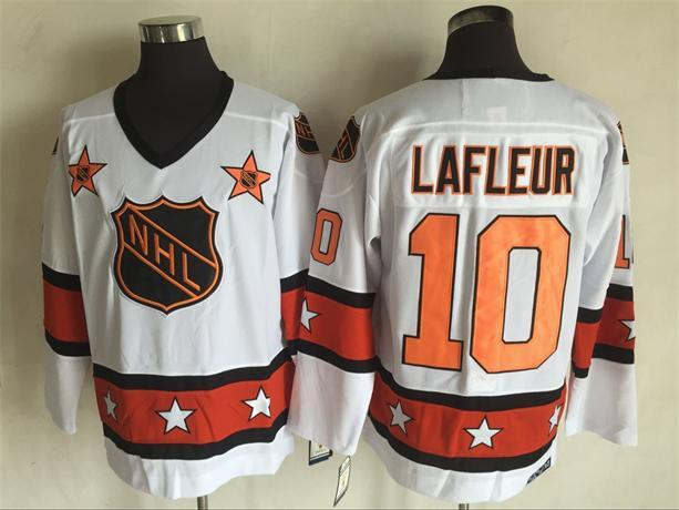 1980 All Star 10 Guy Lafleur White CCM NHL Jersey