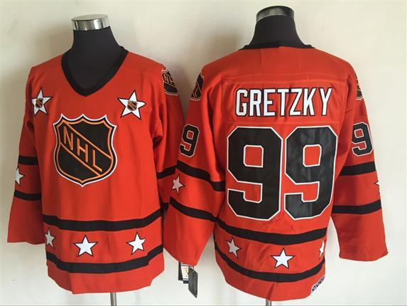 1980 All Star 99 Wayne Gretzky Orange CCM NHL Jersey
