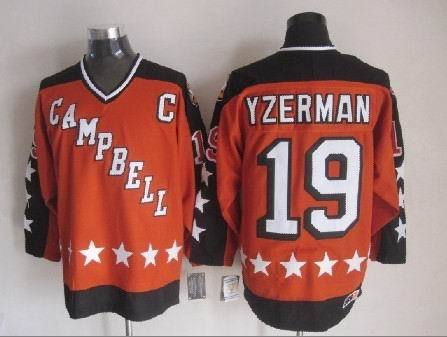 1984 All Star 19 Steve Yzerman Orange CCM NHL Jersey