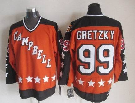 1984 All Star 99 Wayne Gretzky Orange CCM NHL Jersey