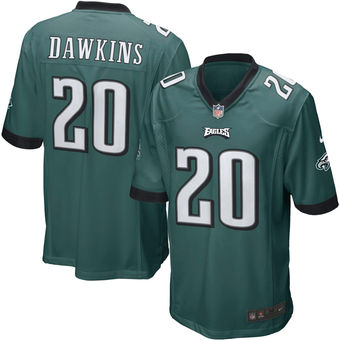 Nike Eagles 20 Brian Dawkins Green Youth Game Jersey
