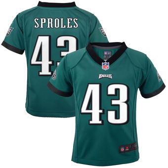 Nike Eagles 43 Darren Sproles Green Toddler Game Jersey