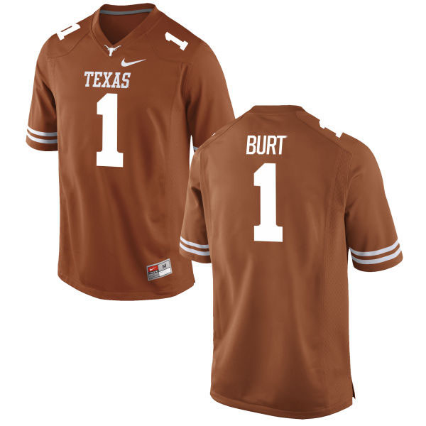 Texas Longhorns 1 John Burt Orange Nike College Jersey