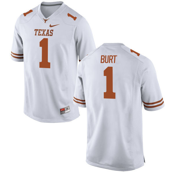 Texas Longhorns 1 John Burt White Nike College Jersey