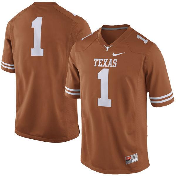 Texas Longhorns 1 Orange Nike College Jersey