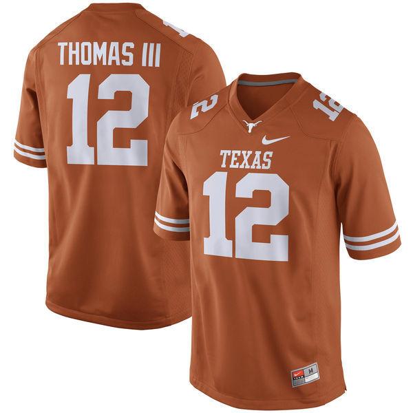 Texas Longhorns 12 Earl Thomas III Orange Nike College Jersey