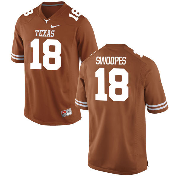 Texas Longhorns 18 Tyrone Swoopes Orange Nike College Jersey