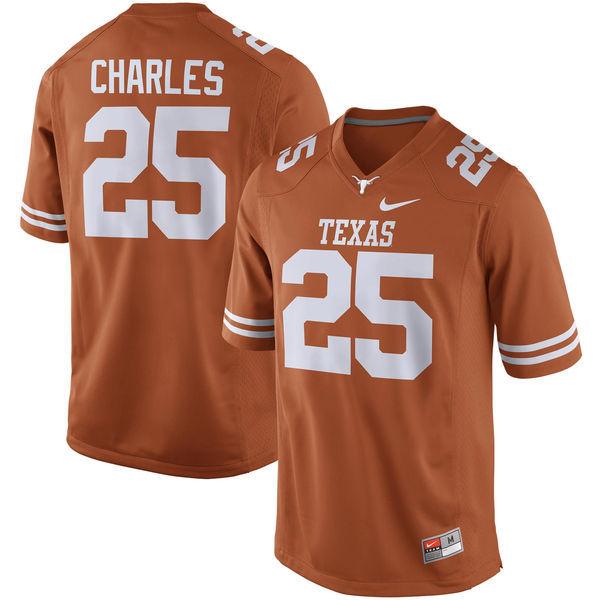 Texas Longhorns 25 Jamaal Charles Orange Nike College Jersey