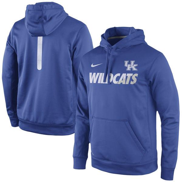 Kentucky Wildcats Nike Sideline KO Fleece Therma FIT Performance Hoodie Royal