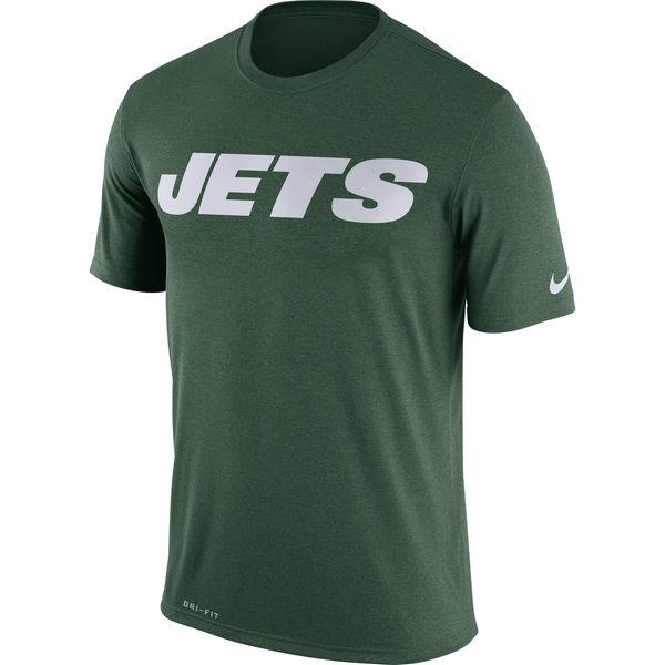 New York Jets Nike Legend Wordmark Essential 3 Performance T-Shirt Green
