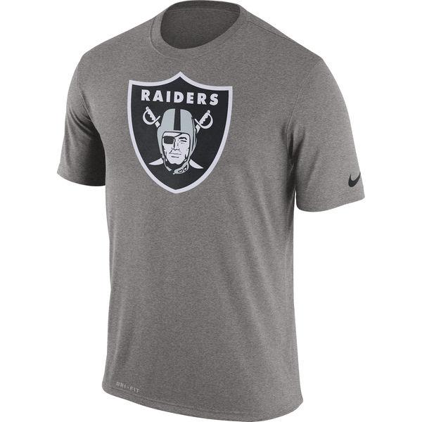 Oakland Raiders Nike Legend Logo Essential 3 Performance T-Shirt Charcoal