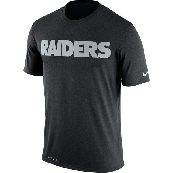 Oakland Raiders Nike Legend Wordmark Essential 3 Performance T-Shirt Black