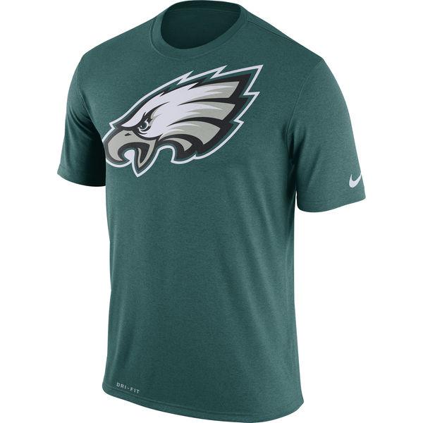 Philadelphia Eagles Nike Legend Logo Essential 3 Performance T-Shirt Midnight Green